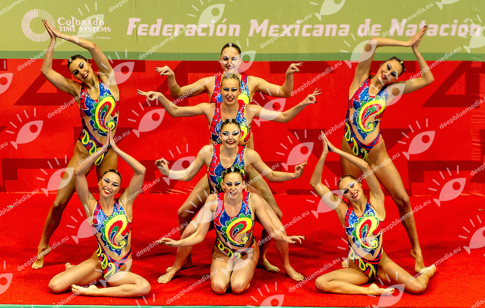 Ukraina UKR<br /> 8th FINA Synchronised Swimming World Trophy <br /> Day02 Nov. 30 -  Team Free routine<br /> Mexico City 29 November - 1 December<br /> Photo G.Scala/Deepbluemedia.eu