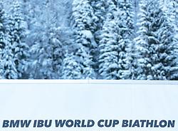 09.12.2017, Biathlonarena, Hochfilzen, AUT, IBU Weltcup Biathlon, Hochfilzen, Herren, Verfolgung, Siegerehrung, im Bild Logo BMW IBU World Cup Biathlon // Logo BMW IBU World Cup Biathlon during men's Pusuit of BMW IBU Biathlon World Cup at the Biathlonarena in Hochfilzen, Austria on 2017/12/09. EXPA Pictures © 2017, PhotoCredit: EXPA/ Stefanie Oberhauser