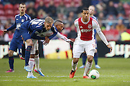 Onderwerp/Subject: Ajax - NEC - Eredivisie<br /> Reklame:  <br /> Club/Team/Country: <br /> Seizoen/Season: 2012/2013<br /> FOTO/PHOTO: Danny HOESEN (R) of Ajax and Thulani SERERO ( Thulani Caleeb SERERO ) (L) of Ajax and Soren RIEKS (LL) of NEC. (Photo by PICS UNITED)<br /> <br /> Trefwoorden/Keywords: <br /> #04 $94 ±1355239233217 ±1355239233217<br /> Photo- & Copyrights © PICS UNITED <br /> P.O. Box 7164 - 5605 BE  EINDHOVEN (THE NETHERLANDS) <br /> Phone +31 (0)40 296 28 00 <br /> Fax +31 (0) 40 248 47 43 <br /> http://www.pics-united.com <br /> e-mail : sales@pics-united.com (If you would like to raise any issues regarding any aspects of products / service of PICS UNITED) or <br /> e-mail : sales@pics-united.com   <br /> <br /> ATTENTIE: <br /> Publicatie ook bij aanbieding door derden is slechts toegestaan na verkregen toestemming van Pics United. <br /> VOLLEDIGE NAAMSVERMELDING IS VERPLICHT! (© PICS UNITED/Naam Fotograaf, zie veld 4 van de bestandsinfo 'credits') <br /> ATTENTION:  <br /> © Pics United. Reproduction/publication of this photo by any parties is only permitted after authorisation is sought and obtained from  PICS UNITED- THE NETHERLANDS