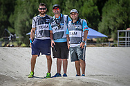 Team Argentina at the 2018 UCI BMX World Championships in Baku, Azerbaijan.