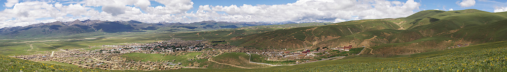 A panorama of Litang, Tibet.