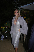 Tania Bryer. Cartier dinner after thecharity preview of the Chelsea Flower show. Chelsea Physic Garden. 23 May 2005. ONE TIME USE ONLY - DO NOT ARCHIVE  © Copyright Photograph by Dafydd Jones 66 Stockwell Park Rd. London SW9 0DA Tel 020 7733 0108 www.dafjones.com