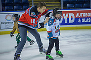 KELOWNA, CANADA - FEBRUARY 19:  Carsen Twarynski #18 of the Kelowna Rockets at the CIBC Family Skate with the Kelowna Rockets on February 19, 2018 at Prospera Place in Kelowna, British Columbia, Canada.  (Photo By Cindy Rogers/Nyasa Photography,  *** Local Caption ***