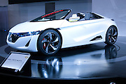 The new Honda EV-Ster on display at the Nagoya Motor Show.