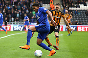 Cardiff City midfielder Nathaniel Mendez Laing (19)  during the EFL Sky Bet Championship match between Hull City and Cardiff City at the KCOM Stadium, Kingston upon Hull, England on 28 April 2018. Picture by Mick Atkins.