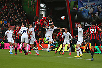 Football - 2019 / 2020 Premier League - AFC Bournemouth vs. Chelsea<br /> <br /> Bournemouth's Jefferson Lerma climbs highest to score Bournemouths equaliser at the Vitality Stadium (Dean Court) Bournemouth <br /> <br /> COLORSPORT/SHAUN BOGGUST