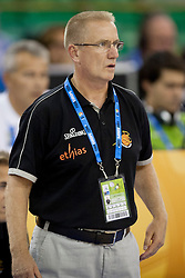 Eddy Casteels, head coach of Belgium during basketball match between National teams of Germany and Belgium at Day 2 of Eurobasket 2013 on September 5, 2013 in Tivoli Hall, Ljubljana, Slovenia. (Photo By Urban Urbanc / Sportida )