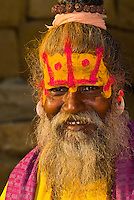Saddhu (holy man), Jaisalmer Fort, Jaisalmer, Rajasthan, India