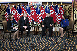 February 27, 2019 - Hanoi, Vietnam - U.S President DONALD TRUMP and North Korean leader KIM JONG UN hold a bilateral meeting at the Sofitel Legend Metropole hotel in Hanoi, Vietnam. (Credit Image: © Shealah Craighead/The White House via ZUMA Wire)