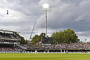 General view of Lords with the floodlights with England in the field during the International Test Match 2019 match between England and Australia at Lord's Cricket Ground, St John's Wood, United Kingdom on 18 August 2019.