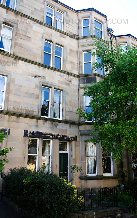 General View of the block of flats on Arden street Edinburgh. The second floor was home of  the Inspector Rebus character...Picture Michael Hughes/Maverick