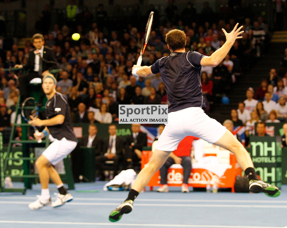 DAVIS CUP by BNP Paribas - GREAT BRITAIN v USA.....Round 3 doubles match between Jamie Murray (GBR) and Dom Inglot (GBR) against Bob Bryan (USA) and Mike Bryan (USA).....(c) STEPHEN LAWSON | SportPix.org.uk