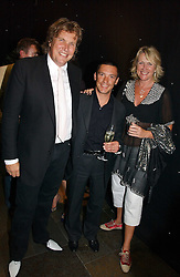 Left to right, THEO FENNELL, Jockey FRANKIE DETTORI and LOUISE FENNELL at the opening party of the new Frankie's Bar & Grill at Selfridges, Oxford Street, London on 6th September 2006.<br /><br />NON EXCLUSIVE - WORLD RIGHTS