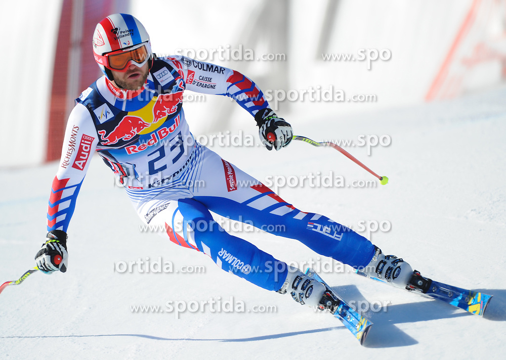 23.01.2013, Streif, Kitzbuehel, AUT, FIS Weltcup Ski Alpin, Abfahrt, Herren, 2. Training, im Bild David Poisson (FRA) // David Poisson of France in action during 2nd practice of mens Downhill of the FIS Ski Alpine World Cup at the Streif course, Kitzbuehel, Austria on 2013/01/23. EXPA Pictures © 2013, PhotoCredit: EXPA/ Erich Spiess