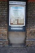 Putney. United Kingdom;  Dated, Floodmarks, plaques, marking extreme high tides on Putney Hard. Tidal information notice boards. Westminster School Wednesday,  06/10/2010. [Mandatory Credit Peter Spurrier/ Intersport Images],