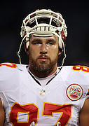 Kansas City Chiefs tight end Travis Kelce (87) looks on from the sideline during the NFL week 12 regular season football game against the Oakland Raiders on Thursday, Nov. 20, 2014 in Oakland, Calif. The Raiders won their first game of the season 24-20. ©Paul Anthony Spinelli