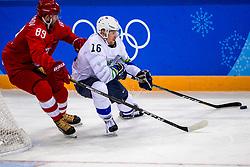 16-02-2018 KOR: Olympic Games day 7, PyeongChang<br /> Ice Hockey Russia (OAR) - Slovenia / defenseman Nikita Nesterov #89 of Olympic Athlete from Russia, forward Ales Music #16 of Slovenia