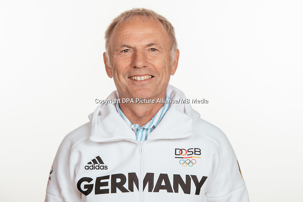 Hans Dieter Lammer poses at a photocall during the preparations for the Olympic Games in Rio at the Emmich Cambrai Barracks in Hanover, Germany, taken on 14/07/16 | usage worldwide