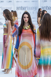 May 25, 2018 - Montecarlo, Monaco - Model presents a creation of Alessandra Vicedomini at the 15th Amber Lounge Charity Fashion Show 2018 in Monte Carlo, Monaco. (Credit Image: © Robert Szaniszlo/NurPhoto via ZUMA Press)