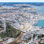 Kristiansand from the air april 2015
