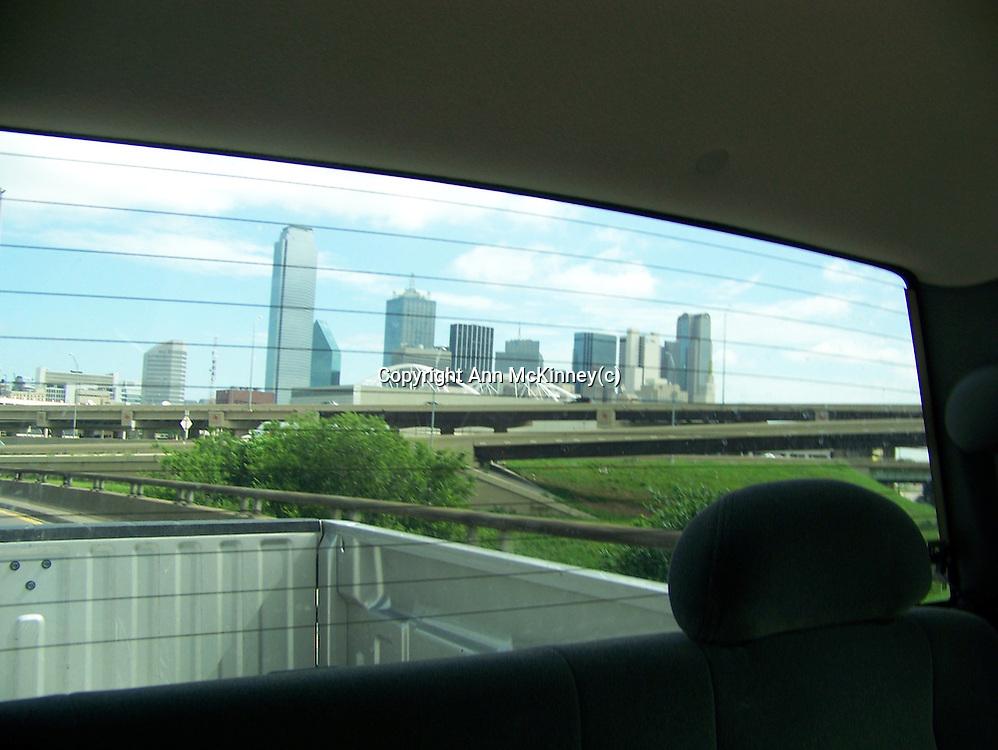 Dallas in the Rearview Window