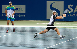 Illya Marchenko of Ukraine and Igor Zelenay of Slovakia playing doubles in 3rd Round of ATP Challenger Zavarovalnica Sava Slovenia Open 2019, day 7, on August 15, 2019 in Sports centre, Portoroz/Portorose, Slovenia. Photo by Vid Ponikvar / Sportida