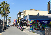 Ocean Front Walk Local Shops and Street Vendors in Venice Beach