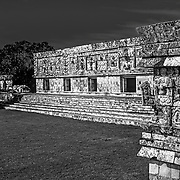 Uxmal # 3             Nuns Quadrangle Mayan Ruins of Uxmal.