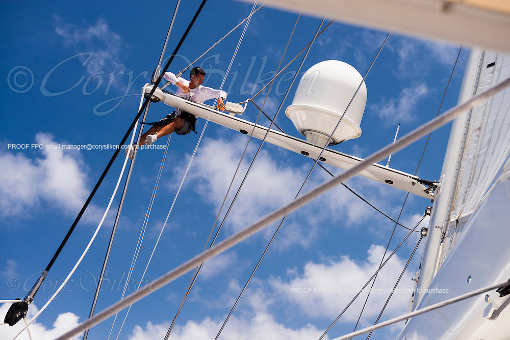 Sailing onboard Silencio during the St. Barth's Bucket Regatta, day four.
