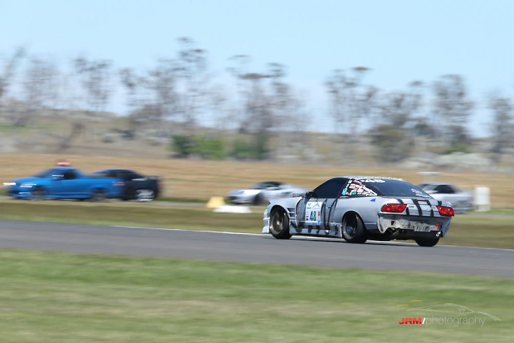 Tom Hall, from Hit n Run drift team ( 225.1km/h and 0:25.3100). Shannons, Snowy Mountains 1000m Sprint, Snowy Mountains Airport.