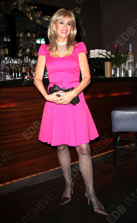 29.NOVEMBER.2012. LONDON<br /> <br /> SALLY FARMILOE-NEVILLE CELEBRATES THE END OF HER CHEMOTHERAPY COURSE WITH A FUND RAISING CHAMPAGNE PARTY IN SUPPORT OF CANCER CHARITY &lsquo;YES TO LIFE&rsquo; AT THE MILLENNIUM HOTEL, LONDON. <br /> <br /> BYLINE: EDBIMAGEARCHIVE.CO.UK<br /> <br /> *THIS IMAGE IS STRICTLY FOR UK NEWSPAPERS AND MAGAZINES ONLY*<br /> *FOR WORLD WIDE SALES AND WEB USE PLEASE CONTACT EDBIMAGEARCHIVE - 0208 954 5968*