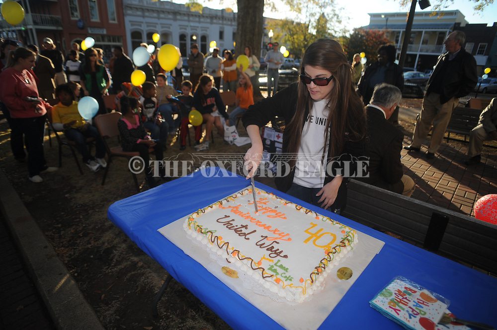 The United Way celebrated its 40th birthday in Oxford, Miss. on Wednesday, November 17, 2010.