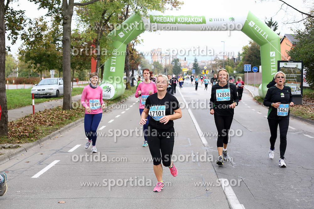 Runners compete during 19th Ljubljana Marathon 2014 on October 25, 2014 in Ljubljana EXPO, Slovenia. Photo by Vid Ponikvar / Sportida.com