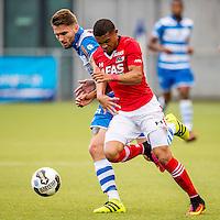 ZWOLLE - 18-09-2016, PEC Zwolle - AZ, MAC3park Stadion, 0-2, PEC Zwolle speler Bart Schenkeveld, AZ speler Dabney dos Santos Souza.