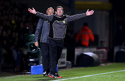 An animated Burton Albion manager Nigel Clough screams at his players - Mandatory by-line: Robbie Stephenson/JMP - 21/10/2016 - FOOTBALL - Pirelli Stadium - Burton upon Trent, England - Burton Albion v Birmingham City - Sky Bet Championship