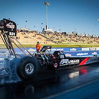 Allan Dobson (531) in his Rapisarda Racing Top Fuel Dragster.
