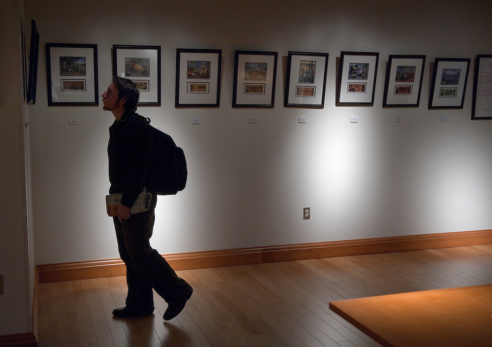 8 a.m.-8 p.m. .Exhibit: The Color of Money (Multicultural Center Gallery, 2nd floor).The first-ever in the Multicultural Center Gallery, this exhibit by artist John W. Jones investigates the importance of slavery in the economy of the South. ...Student John Crandall looks at the work