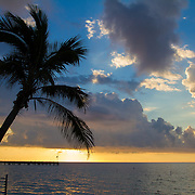 Early one morning catching the sunrise on the coast in Key West.