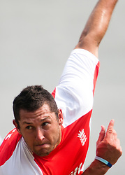 ©London News Pictures. 25/03/2011. England bowler Tim Bresnan bowling in the nets  ahead of  ICC cricket World cup in Sri Lanka. Photo credit should read Asanka Brendon Ratnayake/London News Pictures