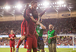 October 6, 2017 - Orlando, Florida, United States - Orlando, FL - Friday Oct. 06, 2017: Jozy Altidore scores during a 2018 FIFA World Cup Qualifier between the men's national teams of the United States (USA) and Panama (PAN) at Orlando City Stadium. (Credit Image: © Mark Thorstenson/ISIPhotos via ZUMA Wire)