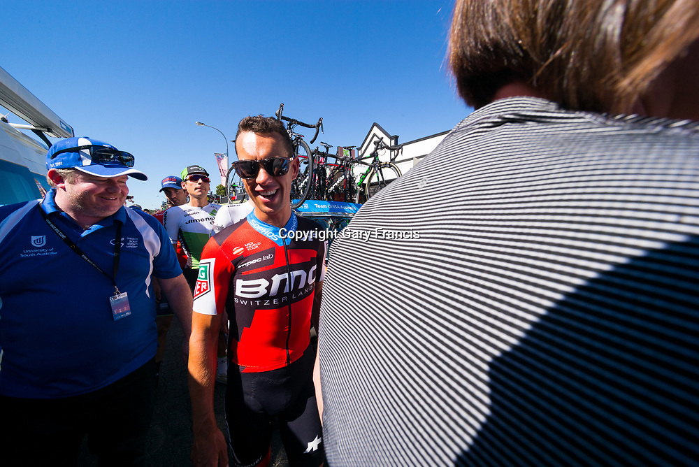 Richie Porte of BMC at the start of Stage 2, Unley to Stirling, of the Tour Down Under, Australia on the 17 of January 2018 ( Credit Image: © Gary Francis / ZUMA WIRE SERVICE )