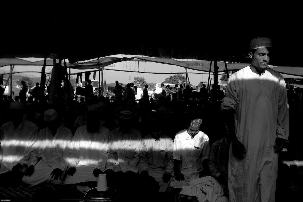 A large congregation of Muslim Tabligh in Sepang, Malaysia July 2009.
