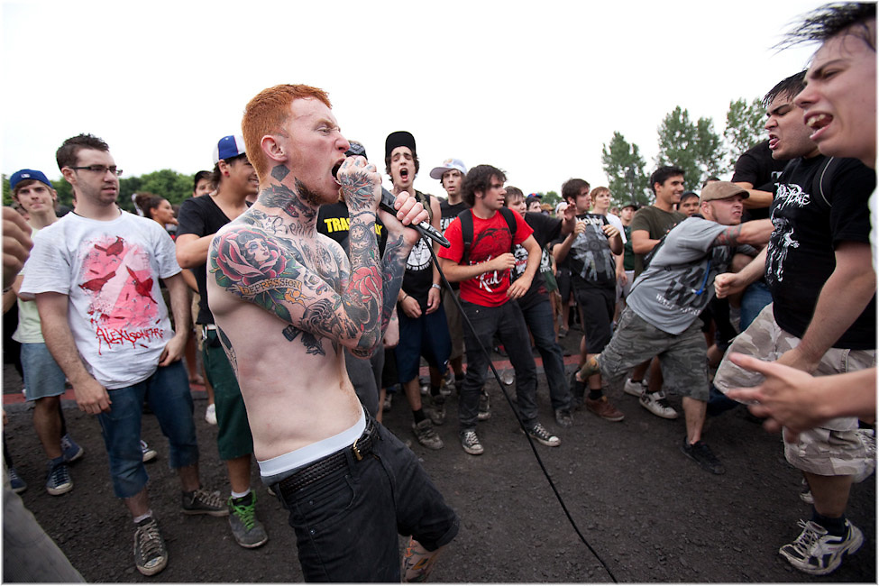 The Gallows perform during the Vans Warped Tour in Montreal Canada. PHOTO BY TIM SNOW