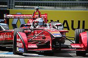 Dragon Racing driver, Jerome D'Ambrosio going round the chicane during Round 9 of Formula E, Battersea Park, London, United Kingdom on 2 July 2016. Photo by Matthew Redman.