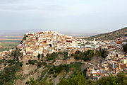 View over the Medina of Moulay Idriss Zerhoun, Middle Atlas, Morocco, 2015-09-20.