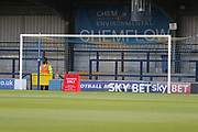 Sky bet advert at the Chem Flow end during the EFL Sky Bet League 1 match between AFC Wimbledon and Gillingham at the Cherry Red Records Stadium, Kingston, England on 12 September 2017. Photo by Matthew Redman.