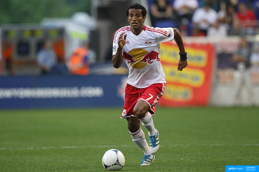 New York Red Bulls player Roy Miller in action during the New York Red Bulls V Chivas USA Major League Soccer match at Red Bull Arena, Harrison, New Jersey, 23rd May 2012. Photo Tim Clayton