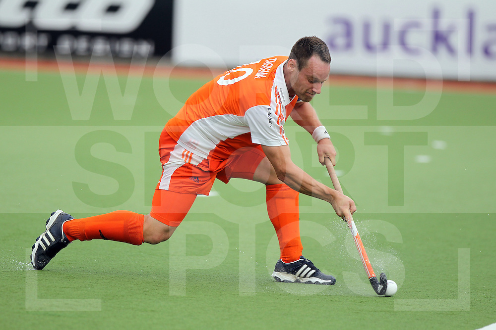 Mens Champions Trophy, Auckland, New Zealand 2011. Day 1 Netherlands v Korea.Taekema Taeke of the Netherlands..Photo: Grant Treeby.one off Editorial Use only,( no archiving )......................Photo: Grant Treeby...Editorial use only (No Archiving) Unless previously arranged