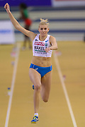 Kristiina Mäkelä (Finland), Women's Triple Jump, during the European Athletics Indoor Championships at Emirates Arena, Glasgow, United Kingdom on 3 March 2019.