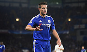 Cesar Azpilicueta slows down the play during the Champions League group stage match between Chelsea and Dynamo Kiev at Stamford Bridge, London, England on 4 November 2015. Photo by Michael Hulf.